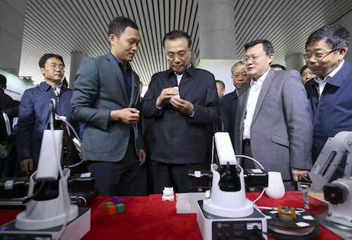 Prime minister of PRC meet Dobot Magician